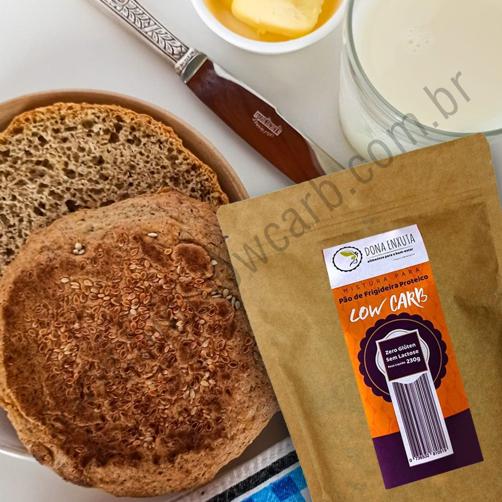 Mistura para Pão de Frigideira Proteico Dona Enxuta 230g  - Tudo Low Carb