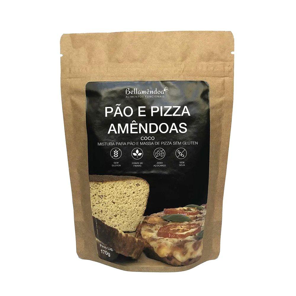Mistura para Pão e Pizza Amêndoas Bellamêndoa 170g  - TLC Tudo Low Carb