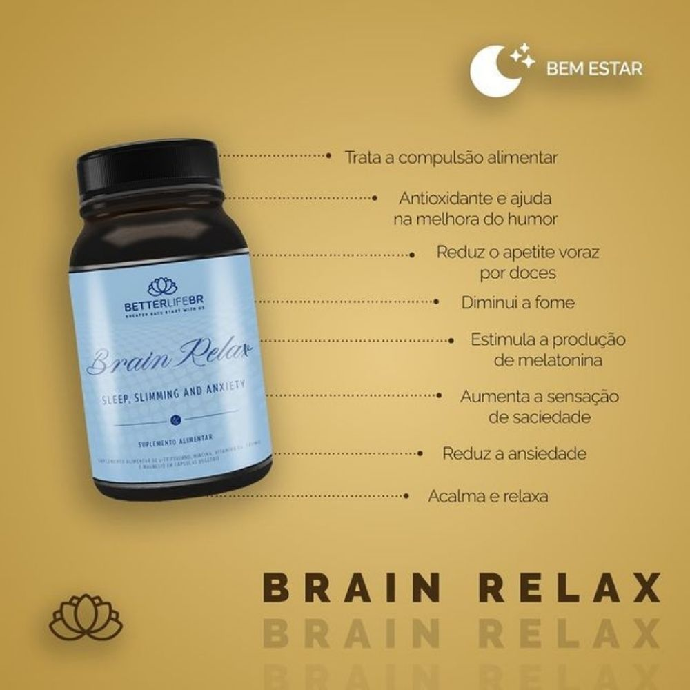 Multivitamínico Brain Relax BetterLife 60 Caps  - Tudo Low Carb