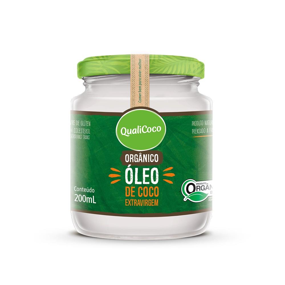 Óleo de Coco Extra Virgem Orgânico Qualicoco 200ml  - Tudo Low Carb