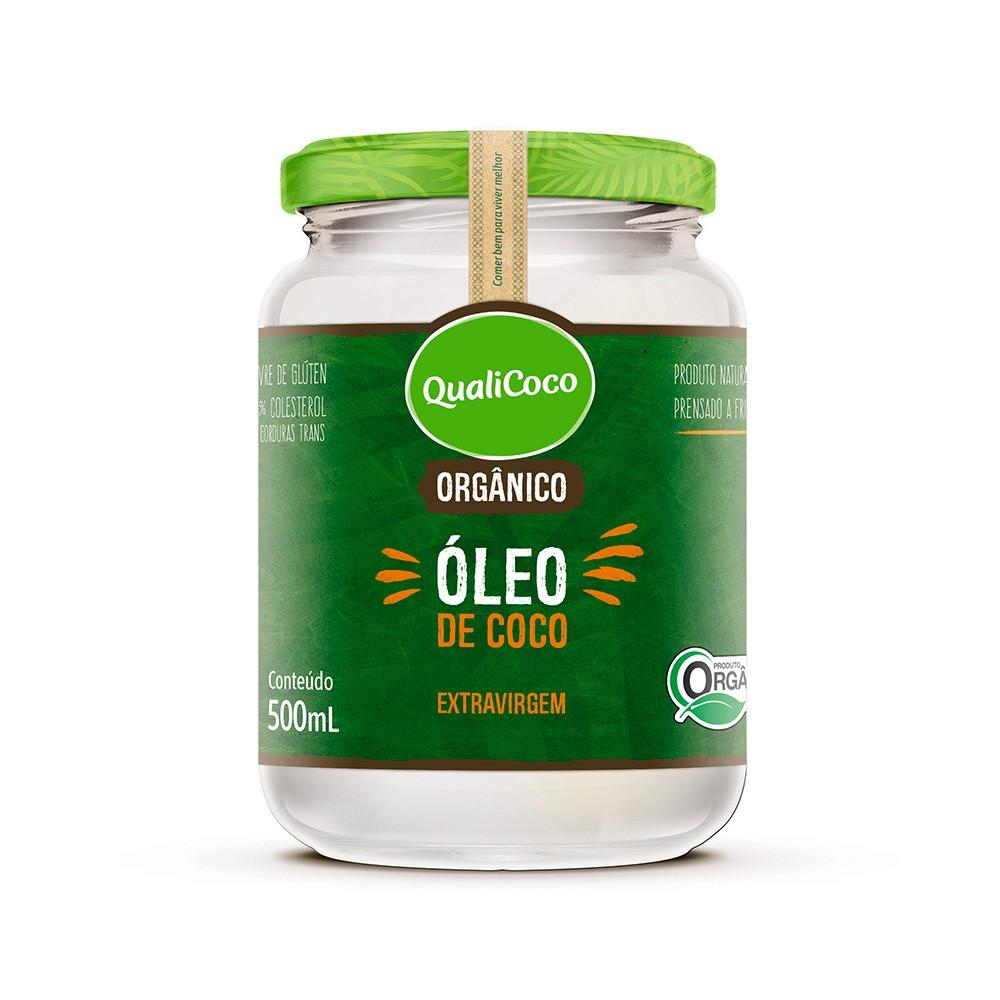 Óleo de Coco Extra Virgem Orgânico Qualicoco 500ml  - Tudo Low Carb