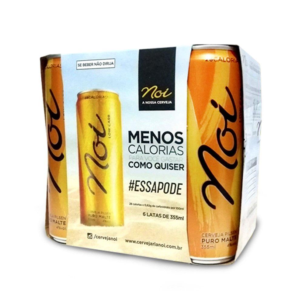 Pack Cerveja Low Carb Pilsen Puro Malte Noi 355ml (12 unidades)  - TLC Tudo Low Carb