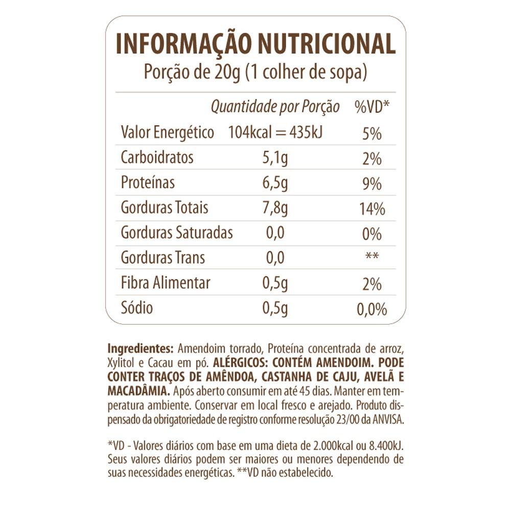 Pasta de Amendoim Choco Protein Eat Clean 300g  - Tudo Low Carb