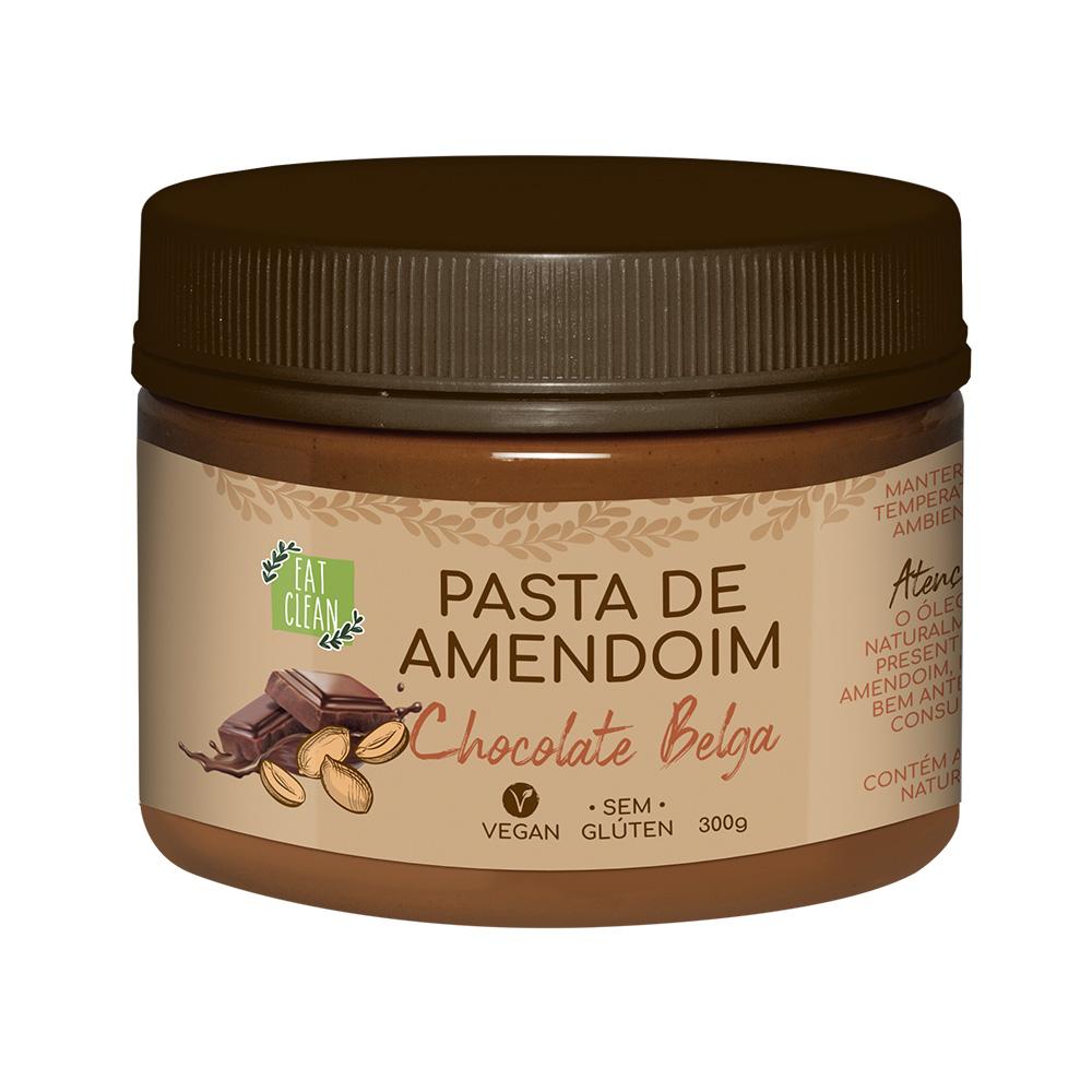 Pasta de Amendoim Chocolate Belga Eat Clean 300g  - TLC Tudo Low Carb