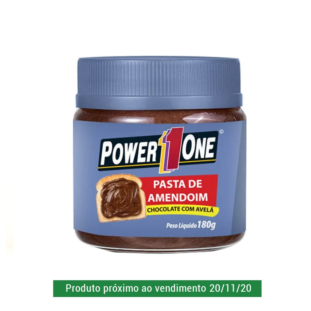 Pasta de Amendoim Power One Chocolate com Avelã 180g  - Tudo Low Carb