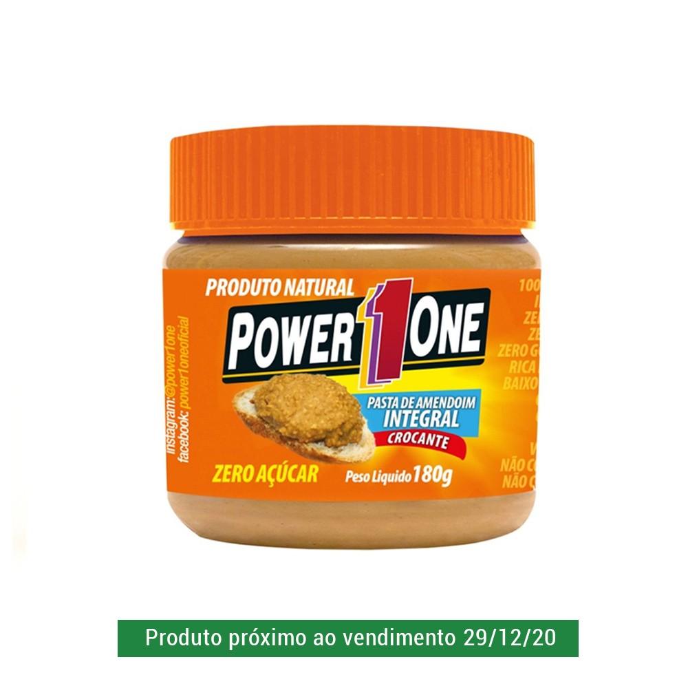 Pasta de Amendoim Power One Crocante 180g  - Tudo Low Carb