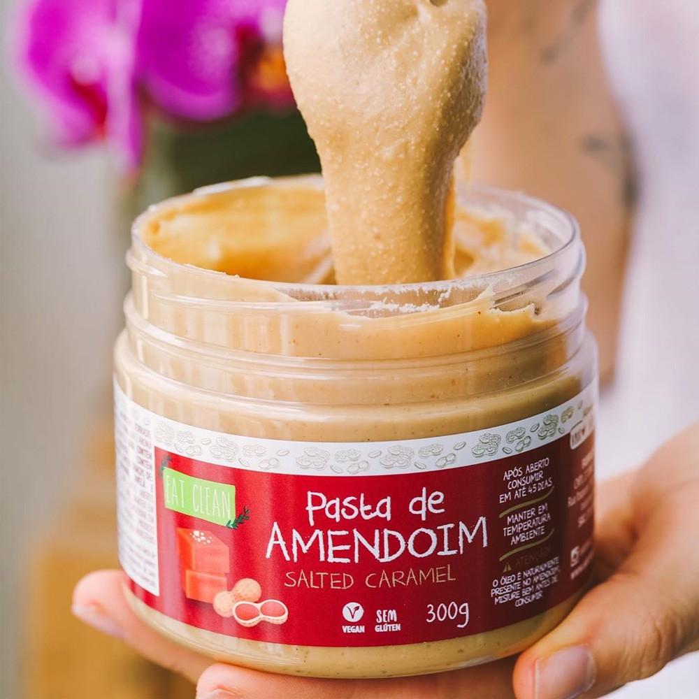 Pasta de Amendoim Salted Caramel Eat Clean 300g  - Tudo Low Carb
