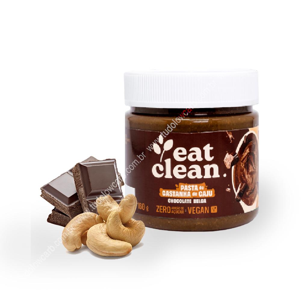 Pasta de Castanha de Caju Chocolate Belga Eat Clean 160g  - TLC Tudo Low Carb