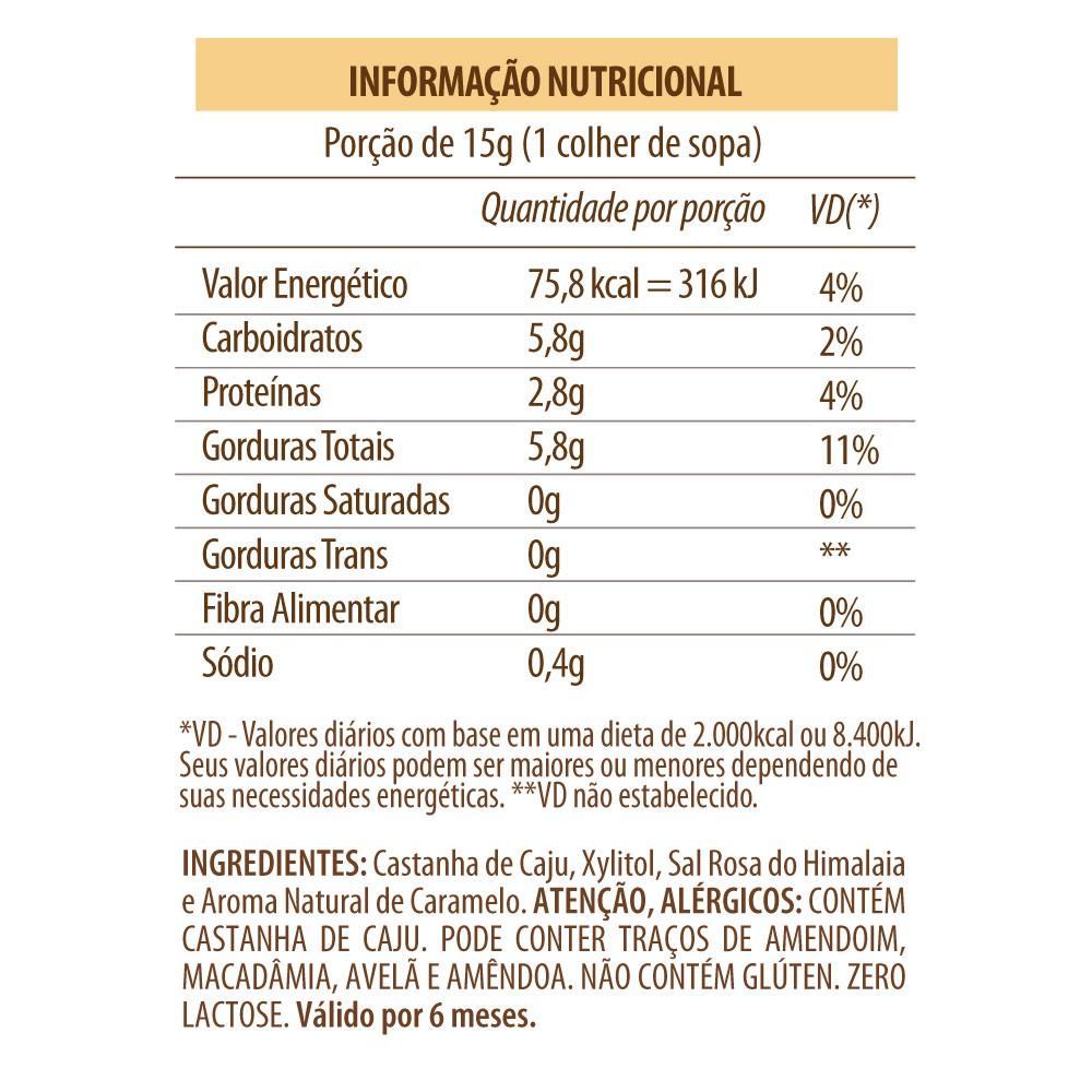 Pasta de Castanha de Caju Salted Caramel Eat Clean 300g  - TLC Tudo Low Carb