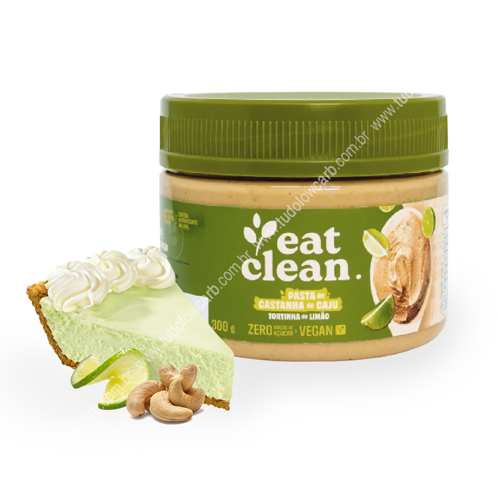 Pasta de Castanha de Caju Tortinha de Limão Eat Clean 300g  - TLC Tudo Low Carb
