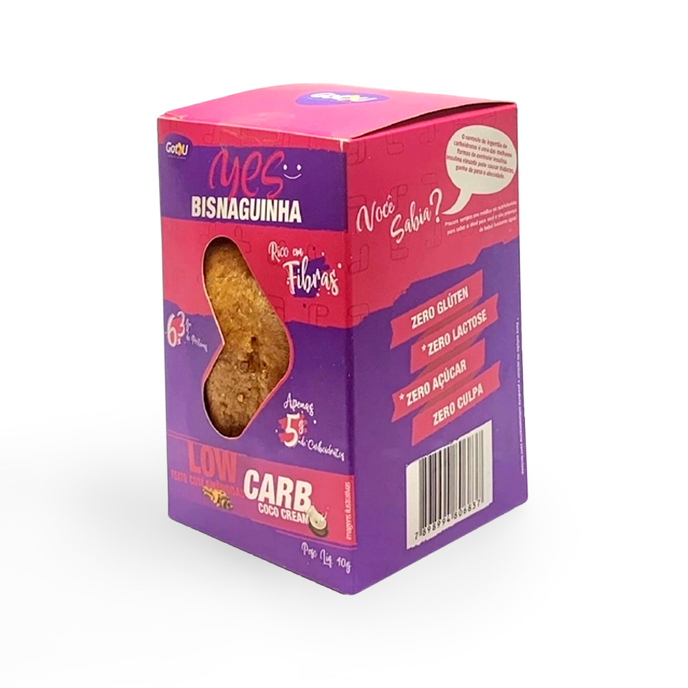 Bisnaguinha Yes Proteica Low Carb Coco com Azeite Got U Protein 40g  - TLC Tudo Low Carb