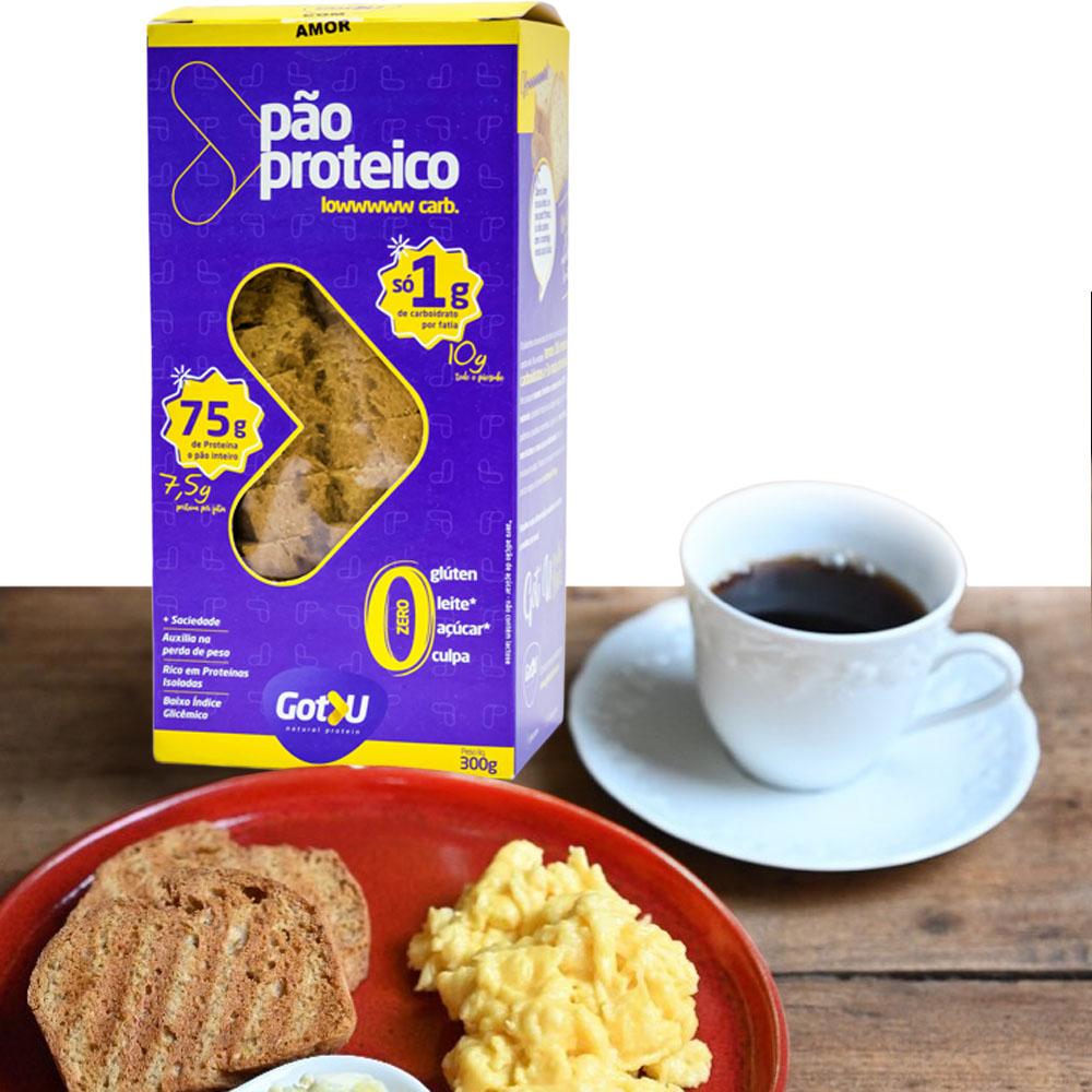 Pão Proteíco Low Carb Got U Protein 300g  - TLC Tudo Low Carb