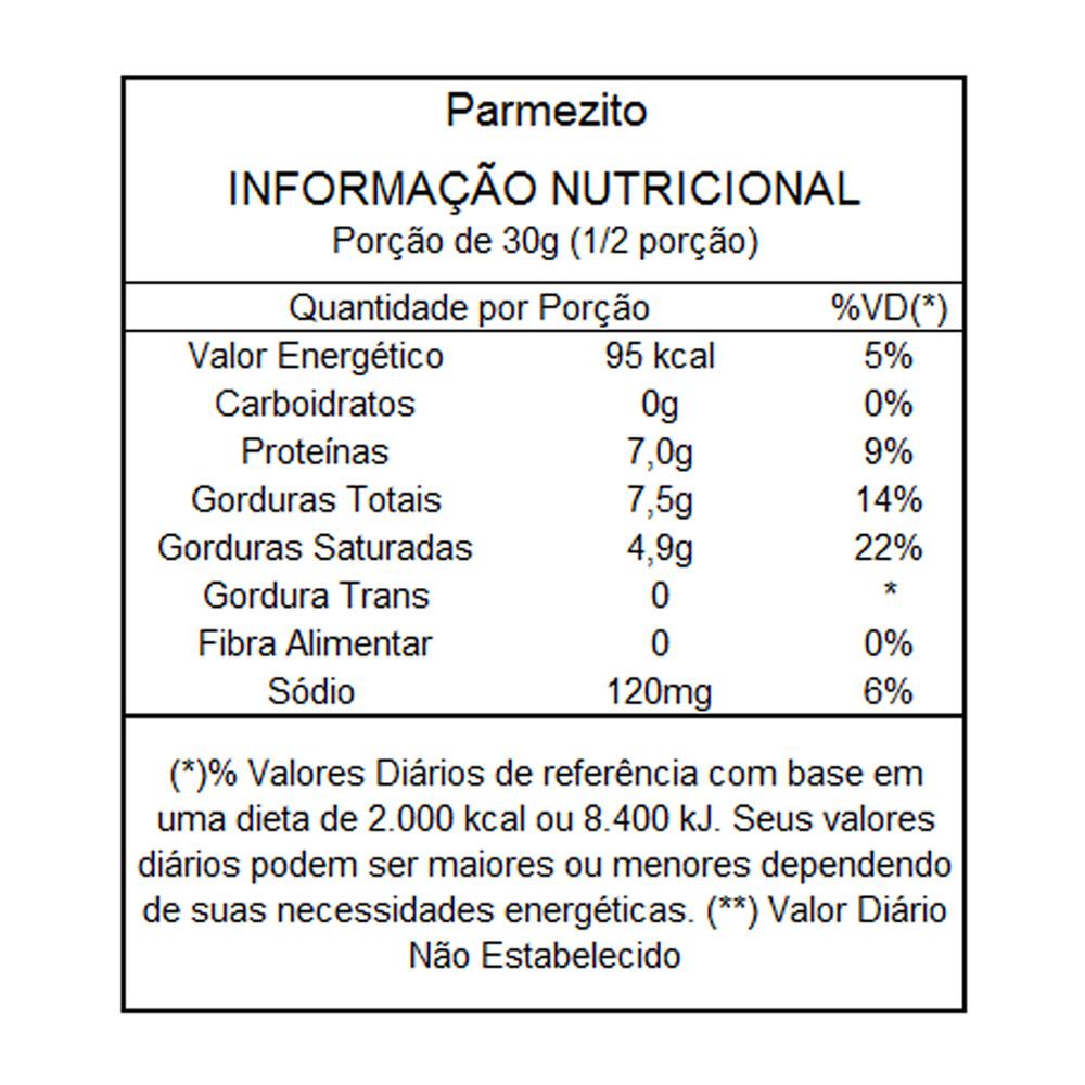 Queijo Parmesão Desidratado com Manjericão Parmezito 60g  - TLC Tudo Low Carb