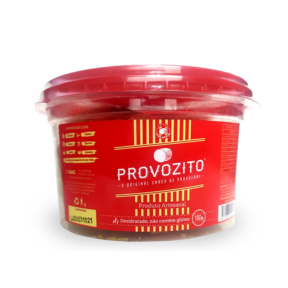 Queijo Provolone Desidratado Tradicional Provozito 180g  - TLC Tudo Low Carb