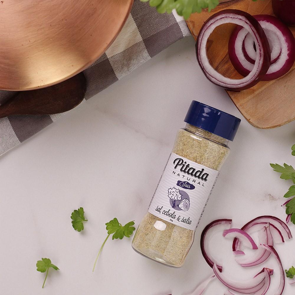 Tempero Sal, Cebola e Salsa Pitada Natural 75g  - TLC Tudo Low Carb