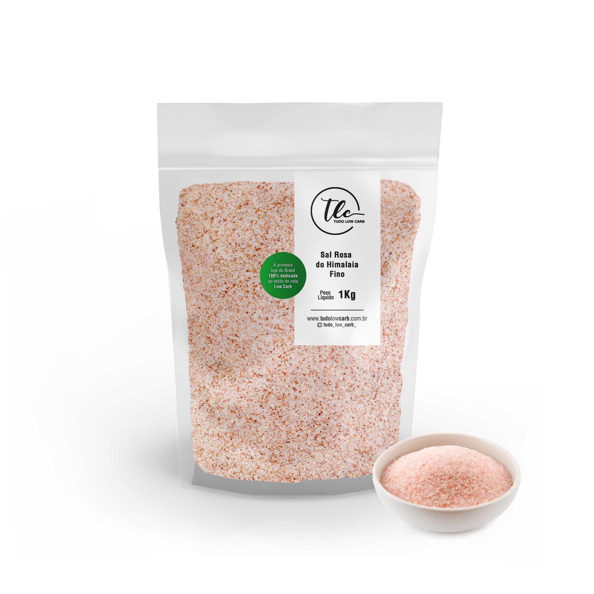 Sal Rosa do Himalaia Fino 1 kg  - TLC Tudo Low Carb