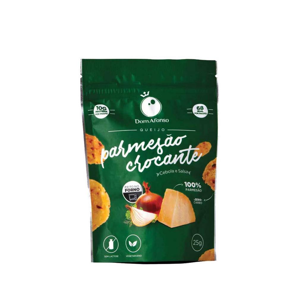 Snack de Parmesão Crocante com Cebola e Salsa Dom Afonso 25g  - TLC Tudo Low Carb