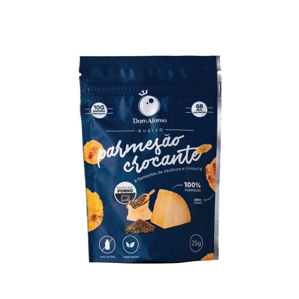 Snack de Parmesão Crocante com Semente de Abóbora e Girassol Dom Afonso 25g  - Tudo Low Carb