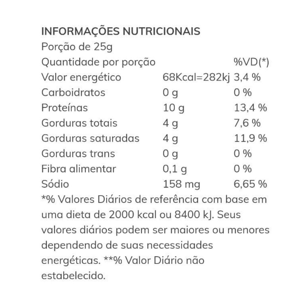 Snack de Parmesão Crocante com Semente de Abóbora e Girassol Dom Afonso 25g  - TLC Tudo Low Carb