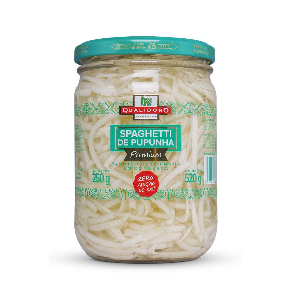 Spaghetti (Espaguete) de Palmito Pupunha Premium Qualidoro 250g  - Tudo Low Carb