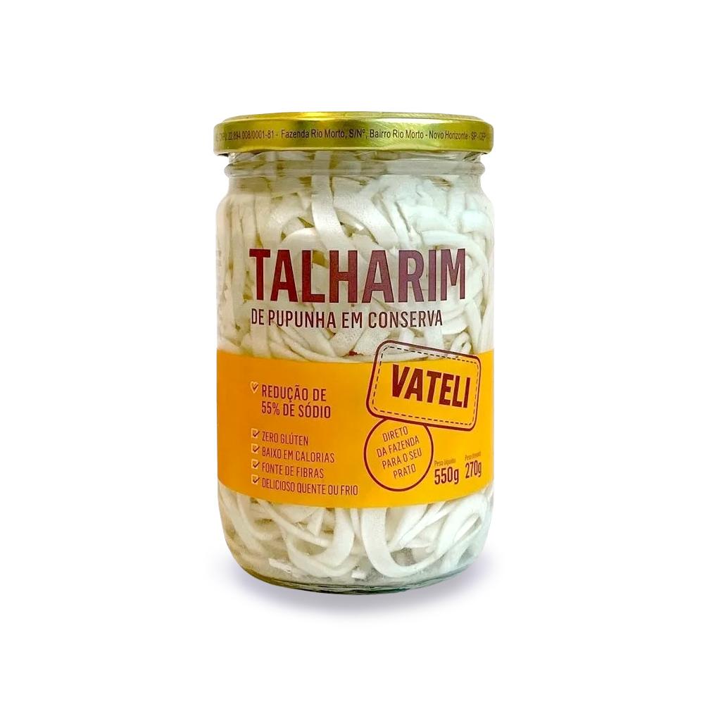 Talharim de Palmito Pupunha Vateli 270g  - TLC Tudo Low Carb