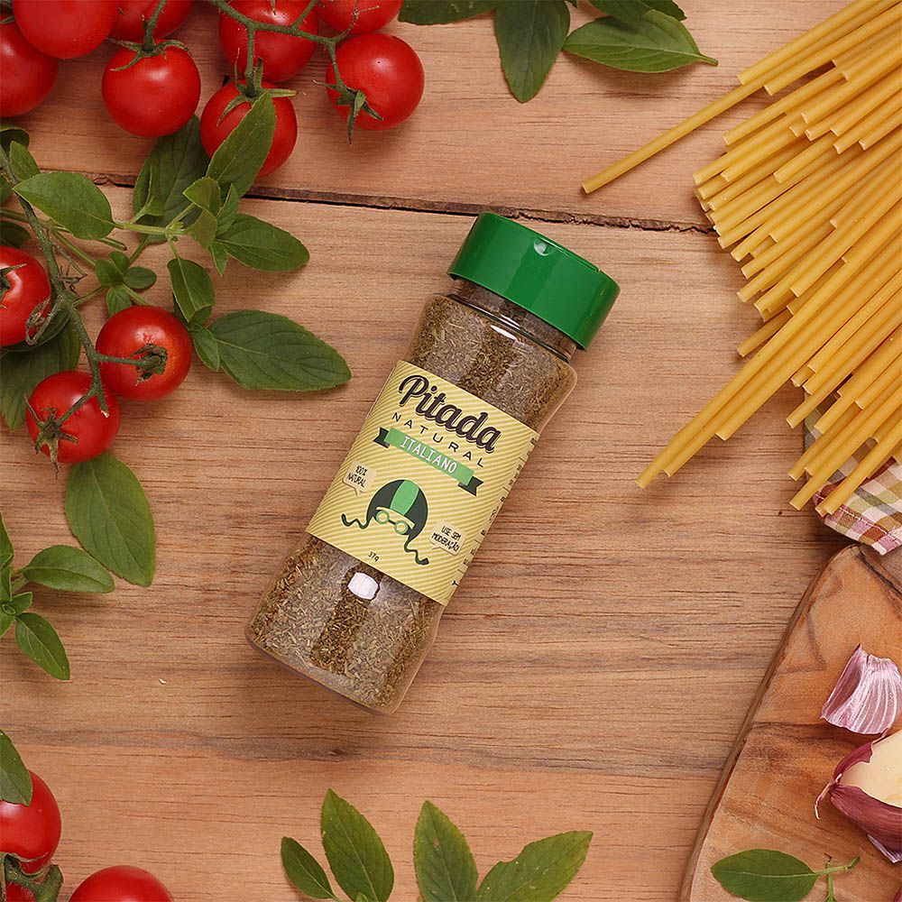 Tempero Italiano Pitada Natural 37g  - Tudo Low Carb