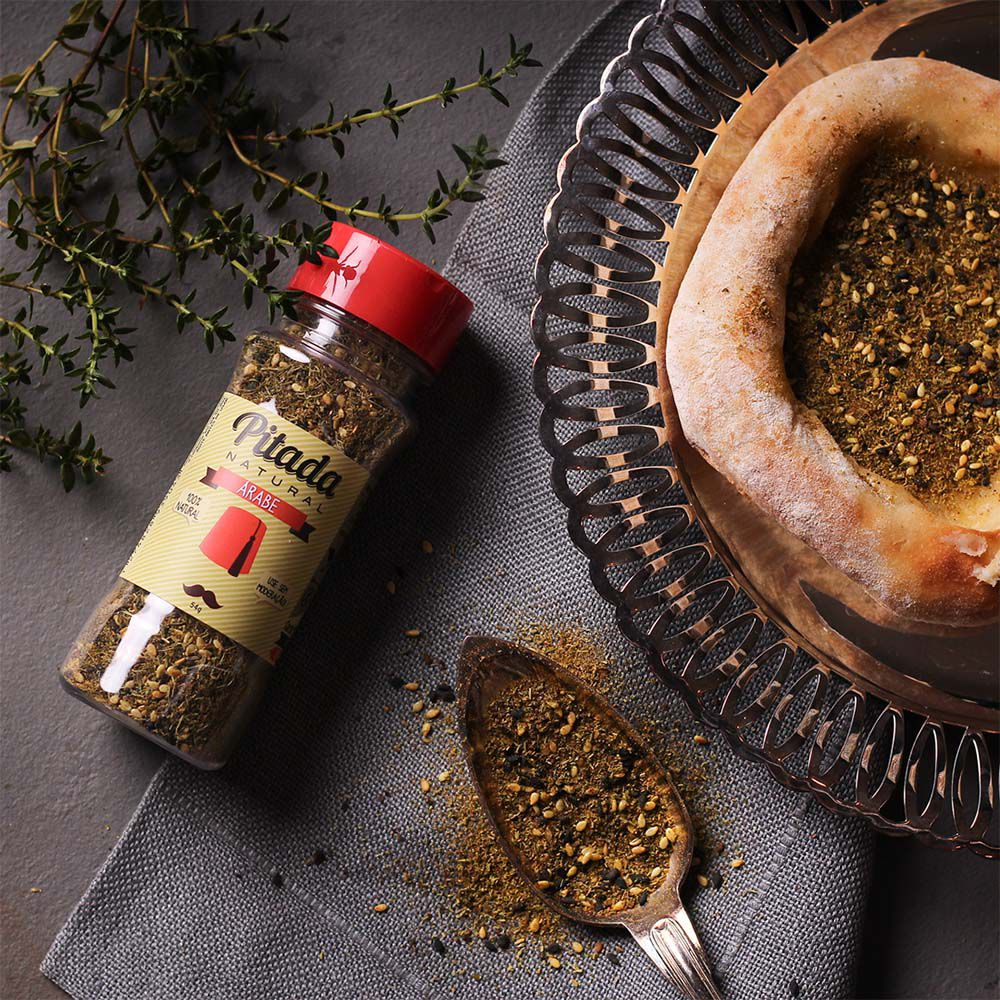 Tempero Árabe (Zaatar) Pitada Natural 54g  - Tudo Low Carb