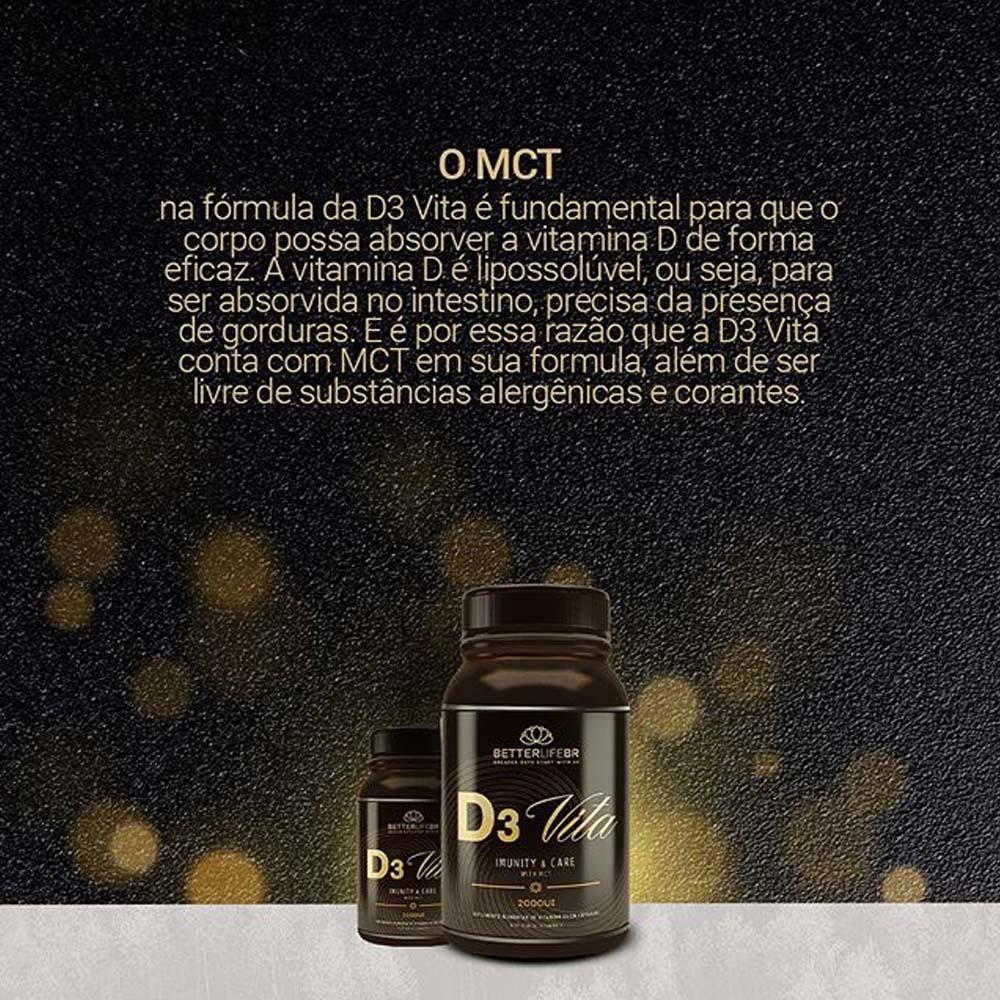 Vitamina D - D3 VITA 2000UI por cápsula BetterLife 60 Caps  - Tudo Low Carb