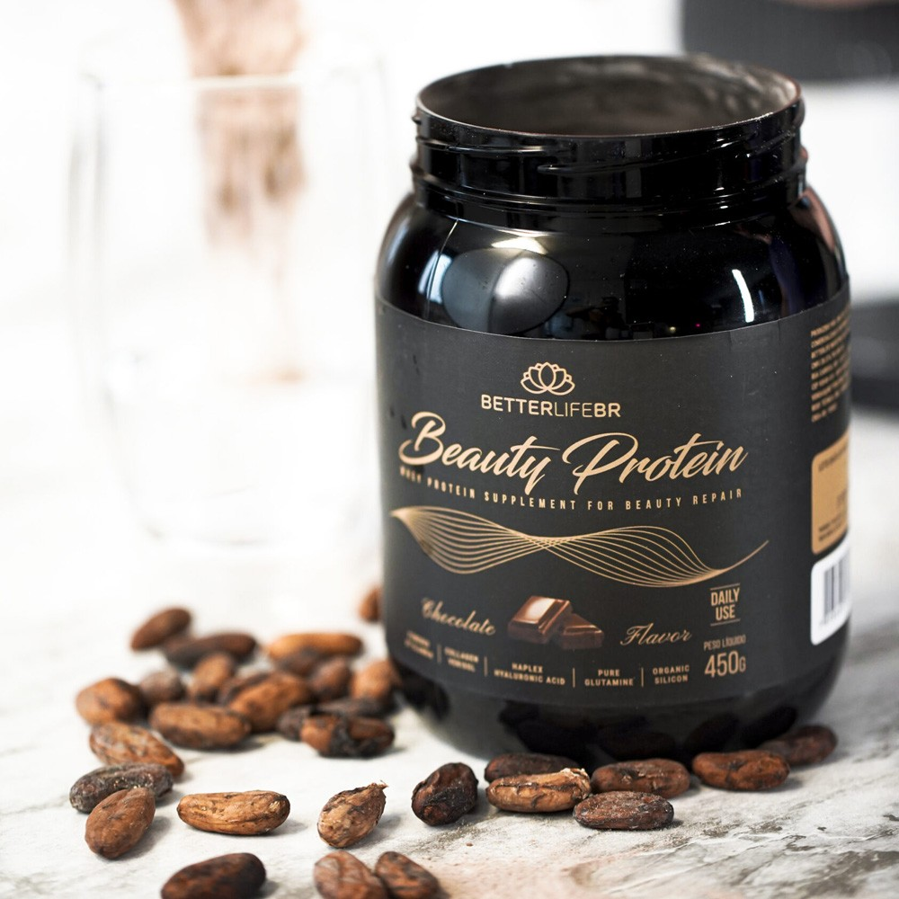 Whey Protein Beauty Protein Chocolate BetterLife 450g  - Tudo Low Carb