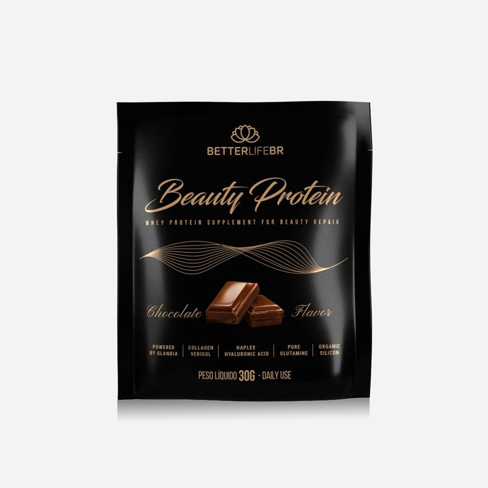 Whey Protein Beauty Protein Chocolate BetterLife Sachê 30g  - Tudo Low Carb