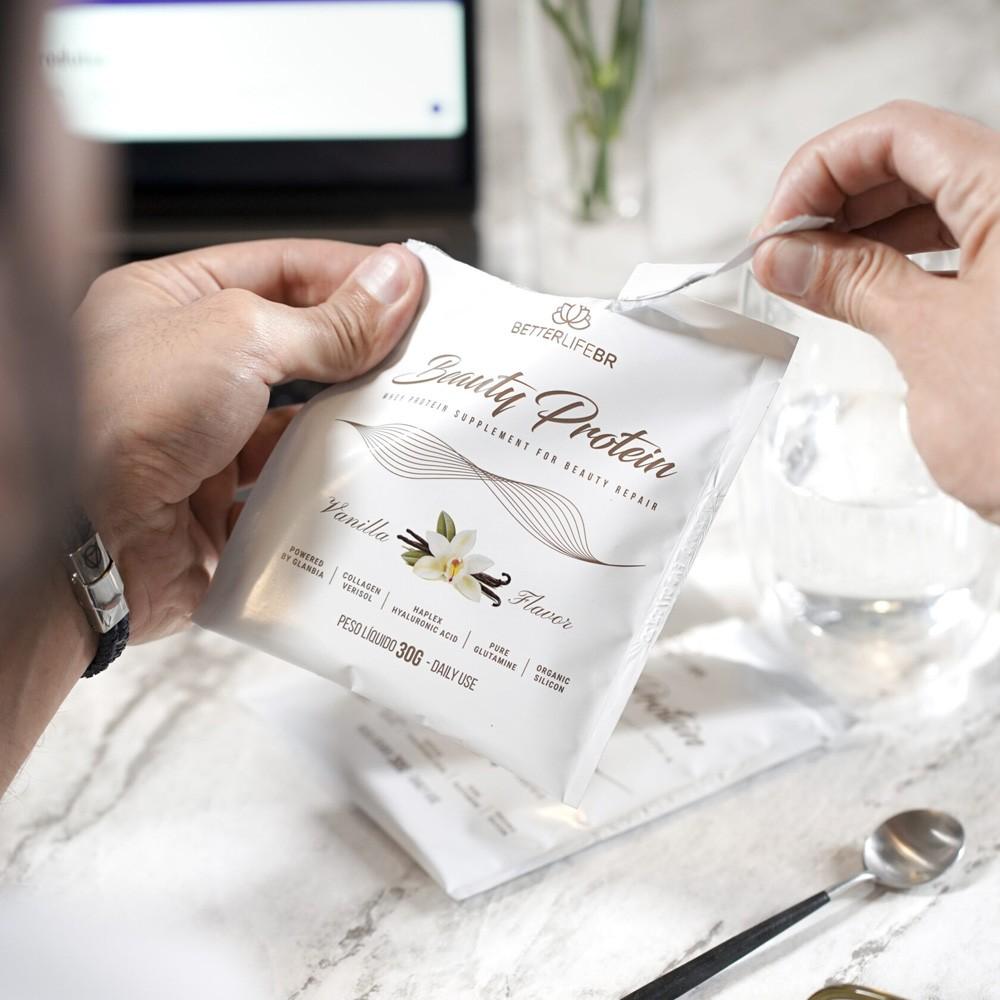 Whey Protein Beauty Protein Vanilla BetterLife Sachê 30g  - Tudo Low Carb