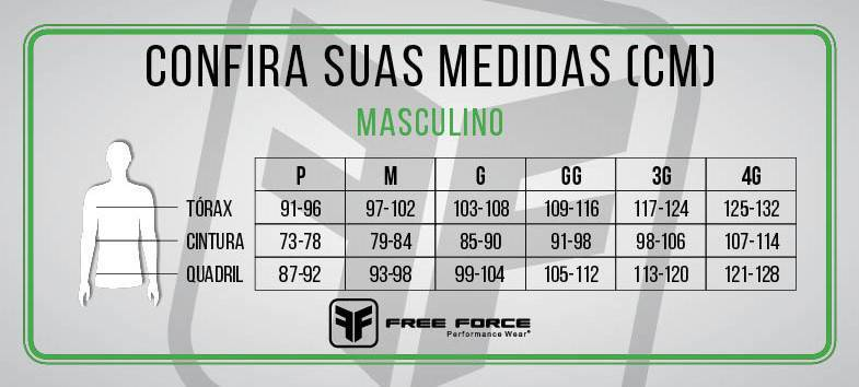 BERMUDA FREE FORCE MASCULINA SPORT ONE PRETO