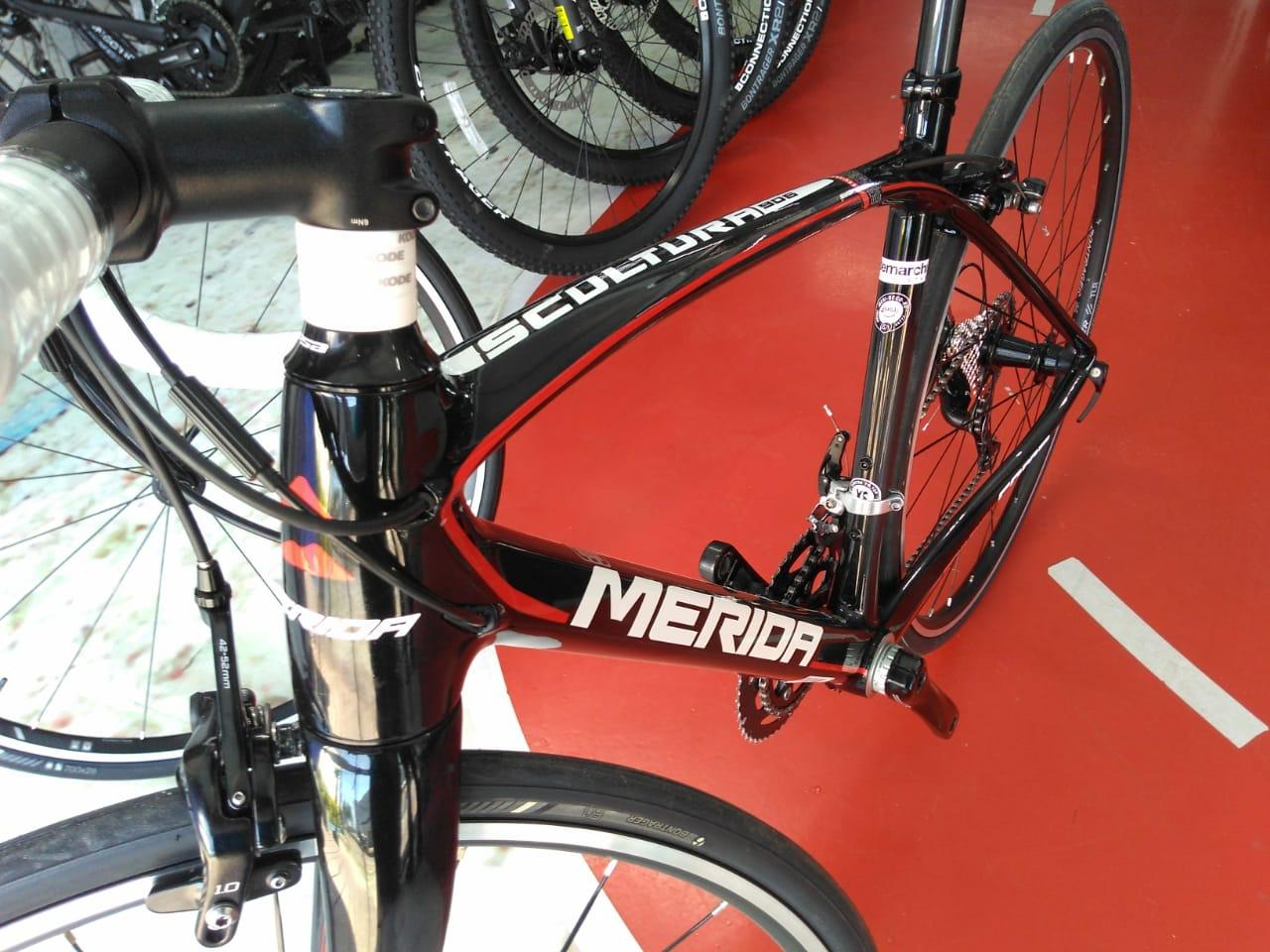 BICICLETA 700 MERIDA SCULTURA 906 T.XS CARBONO/VERMELHO