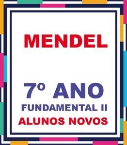 ALUNOS NOVOS - LISTA COMPLETA AGOSTINIANO MENDEL 7º ANO FUNDAMENTAL EXCETO A LICENÇA (COM DESCTO)