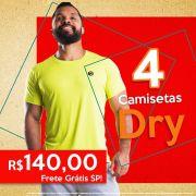 04 Camisetas Masculinas Dry Fit