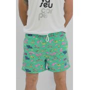 shorts de praia estampado Games