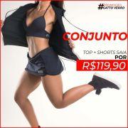 Conjunto Top + Shorts Saia Gatto de Rua