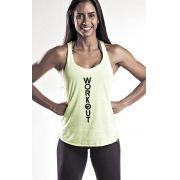 Regata Fitness Amarelo Flúor - Feminina