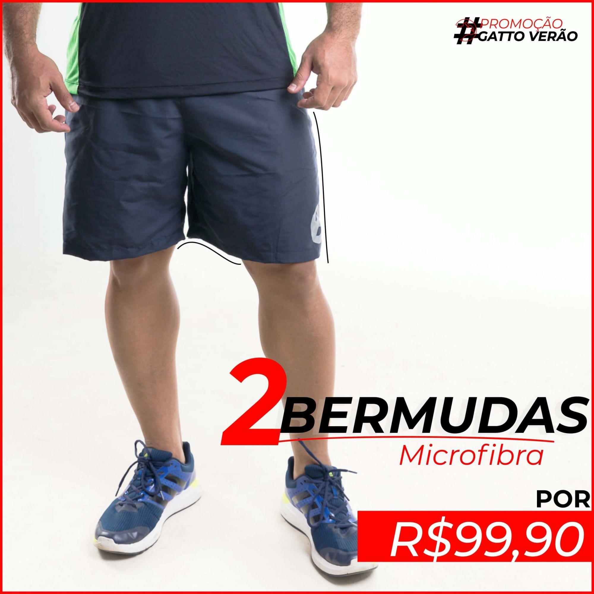 2 Bermudas Microfibra - GATTOVERAO