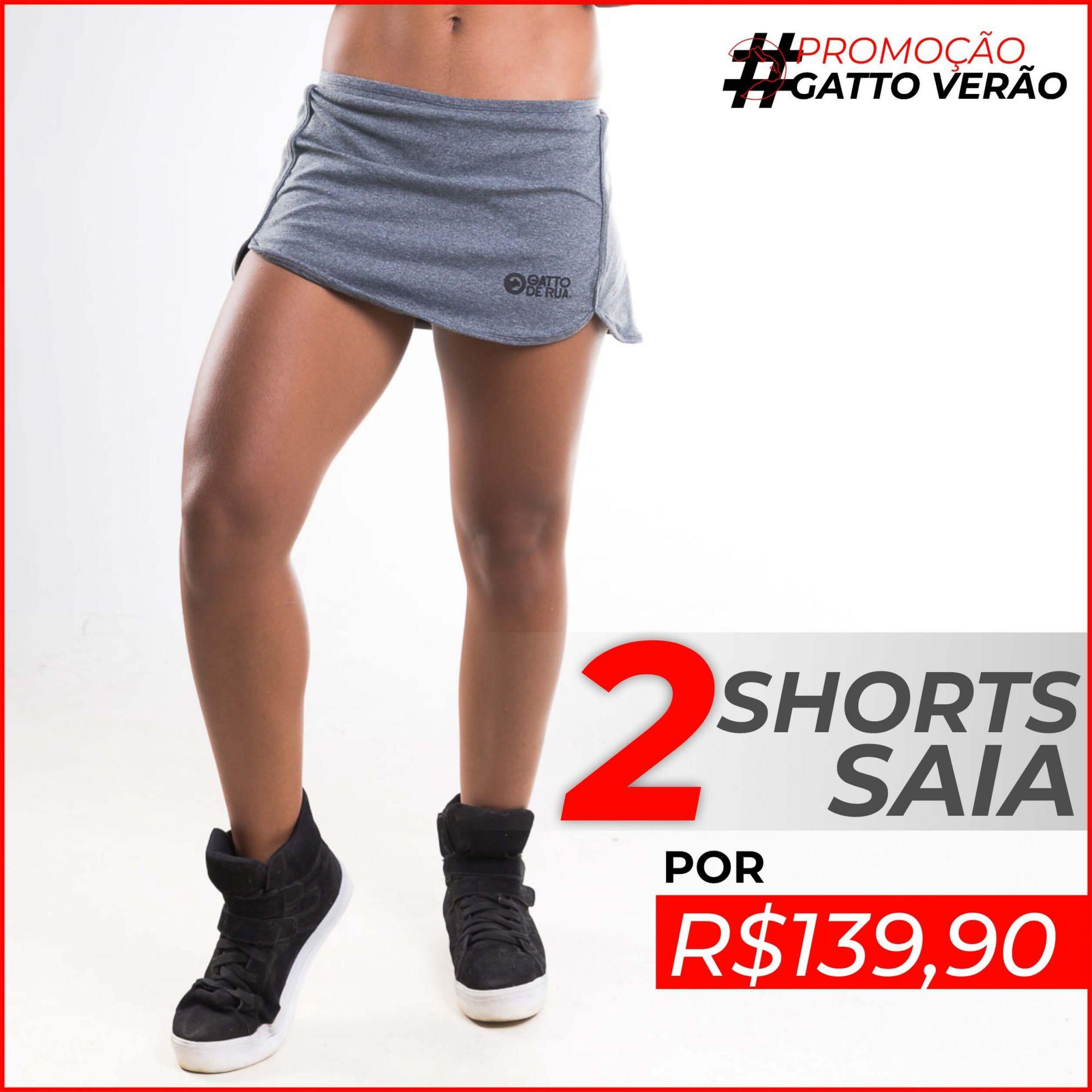 2 Shorts Saia Gatto de Rua