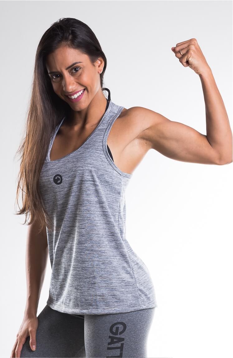 4 Camisetas Regata Feminina - GATTOVERAO