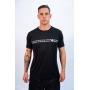 Camisa Dry Fit de Poliamida Letters Masculina - Preto