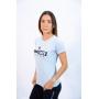 Camiseta Baby Dry FIt Workout Poliamida Feminina - Azul Claro