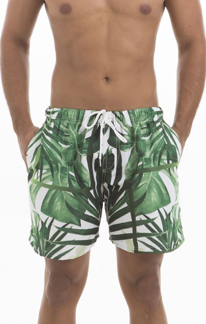 Shorts Praia Folhas Verdes Masculino