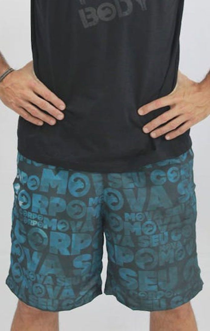 Bermuda microfibra sublimada Azul