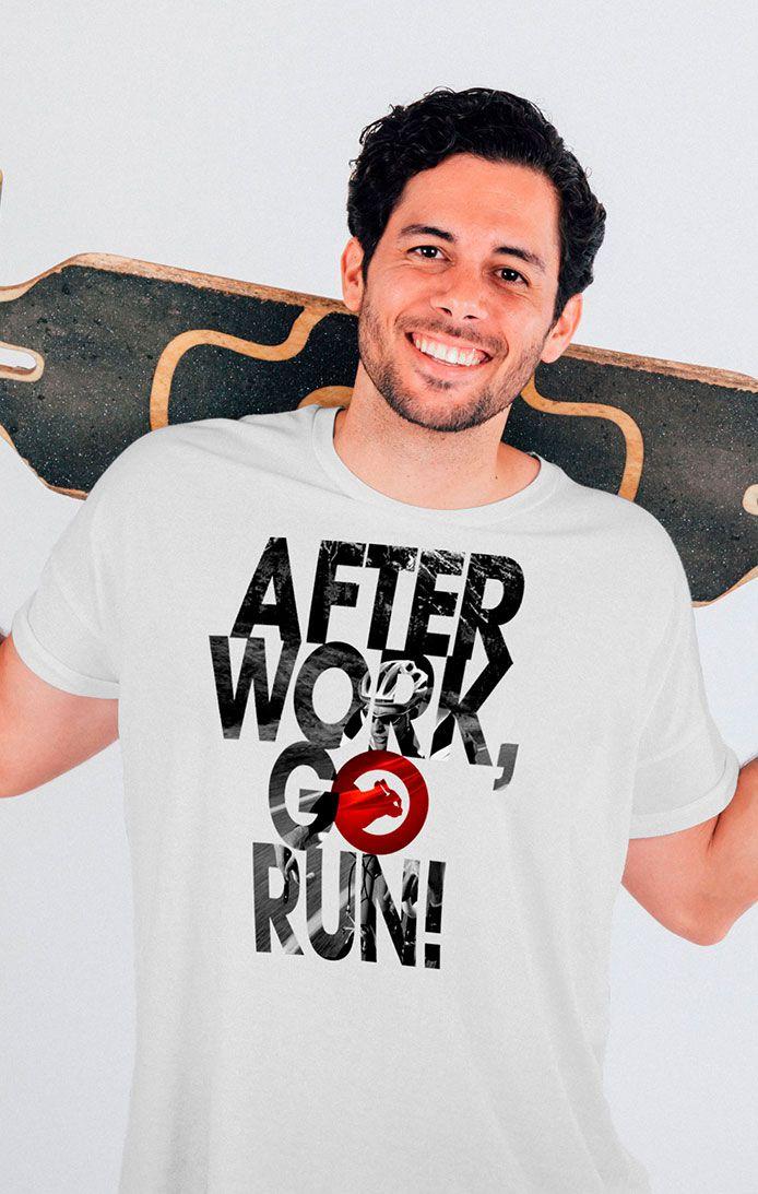 Camiseta estampada de algodão -  After Work