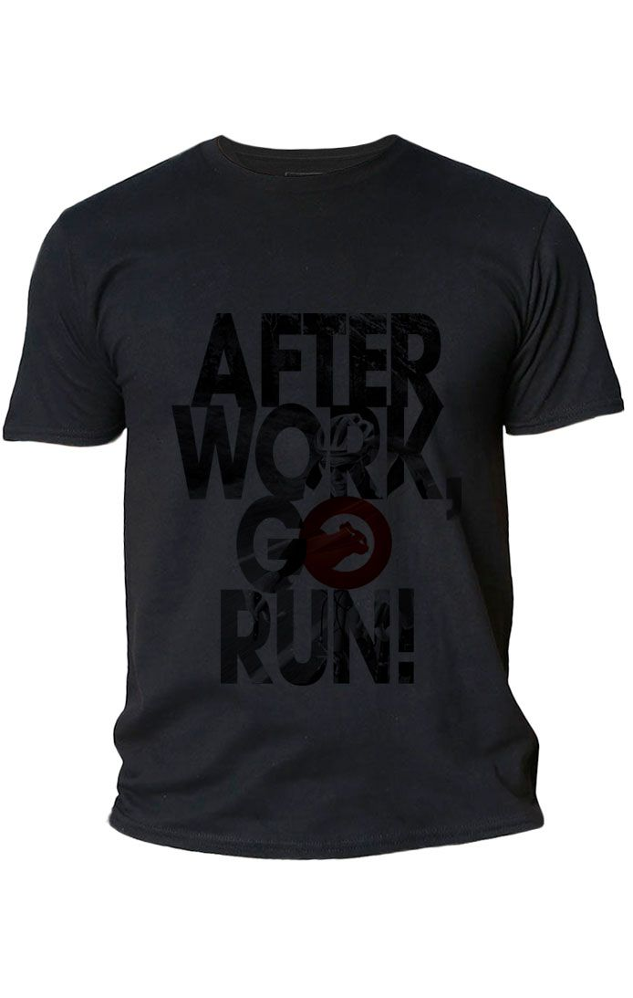 Camiseta Algodão After Work Go Run Masculina