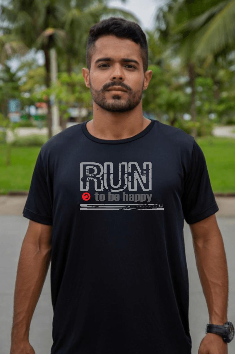 Camiseta de Algodão Masculina