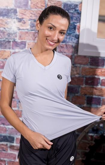 Camiseta Baby look Dry Fit Poliamida Feminina