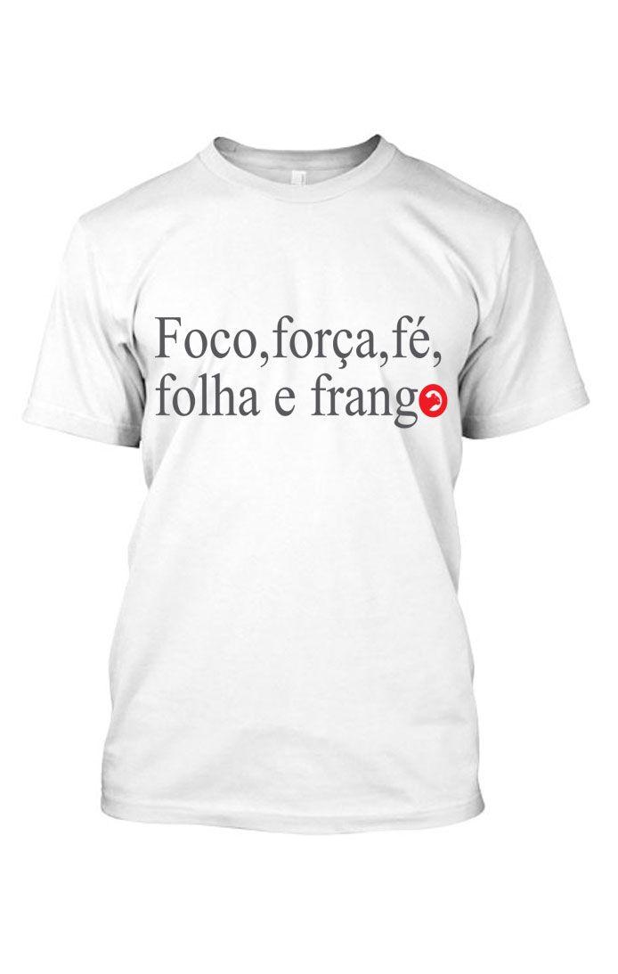 Camiseta masculina de algodão - Foco,Força e Fé